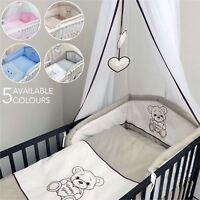 Baby Nursery 10 piece Bedding Set Fits Cot 120 cm / Cot Bed 140 cm - Happy Bear