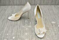 **Betsey Johnson Anise Peep-Toe D'Orsay Pumps, Women's Size 7M, White NEW