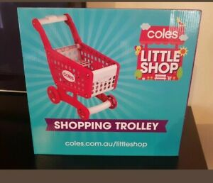 Coles little shop 2 Coles Shopping trolley sealed BRAND NEW item