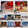 2pcs 3D Printed Window Curtain Drapery Drapes Door Screen Christmas Xmas