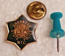New listing Arkansas State Police N.T.C Mini Lapel Pin Badge