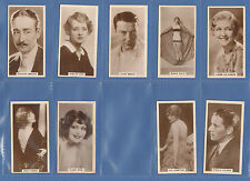 Incomplete Sets Film/Film Stars Collectable Cigarette Cards