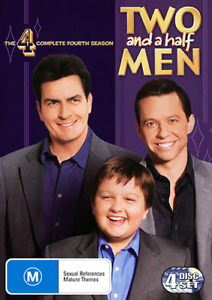 TWO AND A HALF MEN - COMPLETE SEASON 4 DVD (NEW & SEALED)