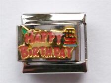 CLASSIC HAPPY BIRTHDAY SILVER ITALIAN CHARM fits all Italian bracelet G17