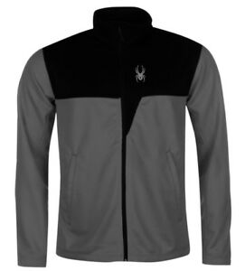 Spyder Ryder Men's Midlayer Jacket Grey Black all Sizes New with Label