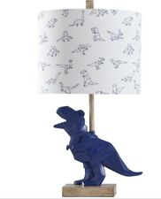 KIDS LAMP BLUE DINO LAMP WITH SHADE