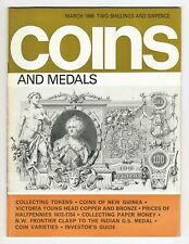 COINS & MEDALS - 52 Page Magazine March 1968 Good Reference