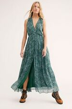 NWOT Free People Green My Fair Lady Floral Maxi Dress 8 Christmas $168