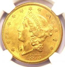 1875-CC Liberty Gold Double Eagle $20 Coin - NGC Uncirculated Details (UNC MS)!