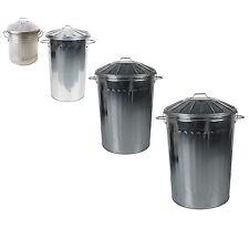 CrazyGadget® Small Medium Large Steel Metal Dustbin Home Garden Storage Unit Bin