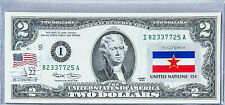 US Currency Notes Two Dollar Bill Paper Money $2 Gem Unc Stamped Flag Yugoslavia