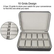 Caja para 10 rejillas de Relojes Soporte de Exhibición organizador con Cremaller