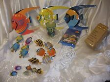 Bundle of 6 set /36 pieces,Underwater Sea world bathroom set decorating ideas