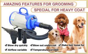 SHELANDY 3.2 Stepless Adjustable Speed Pet Hair Force Dryer Dog Grooming Blower
