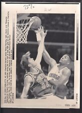 Alonzo Mourning vs Christian Laettner Vintage A/P Laser Wire Photo with caption