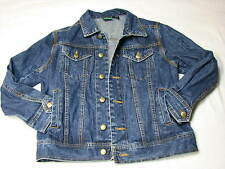 Ladies John Deere Denim Jacket Medium 10 - 12 EUC Women Jean Rancher Farmer Coat