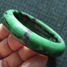 72g Natural Red Ruby Green Zoisite Gem Stone Bracelet Bangle