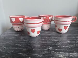 Marks And Spencer Stackable Mugs Hearts X 4 (read Description)