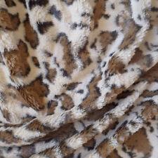 Luxurious Minky Fabric Mink Faux Fur Giraffe Print - 5 Yards