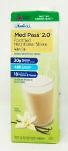 Hormel 27016 Med Pass 2.0 Fortified Shake Vanilla 32 oz QTY 11  EXP 12/11/21