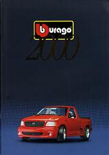 Catalogo MODELLINI DI AUTO Bburago 2000 Dina 4 prospetto opuscolo Automodelle brochure