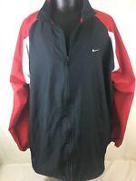 Nike Windbreaker Wind Breaker Jacket Red Black White Men's 3XL Full Zip Up