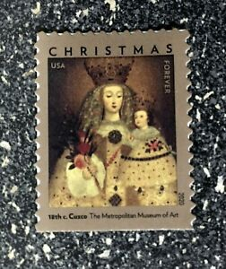 2020USA #5525 Forever Our Lady of Guapulo - Single Stamp  Mint christmas madonna