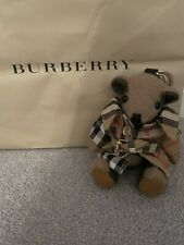 BURBERRY Authentic Trench Coat Teddy Bear Key Ring Keychain Bag Charm