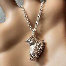 ARGENTO sterling solido skateing Boot pendant & Catena