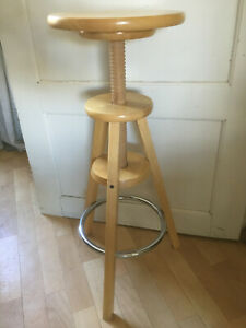 Drehhocker Holz höhenverstellbar Sitzmöbel Hocker Schemel Arbeitshocker