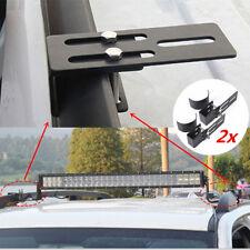 2pcs Black LED Work Light Bar Mount Car Rack Bull Bar Bumper Clamp Accessories