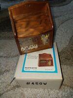 Vintage wood recipe box bird tile gailstyn-sutton taiwan kitchen 60s 70s kitchen