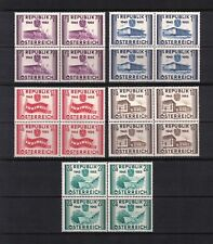 AUSTRIA 1955. Independence Anniv. Stamps. Complete Set, Blocks of 4. MNH / XF.