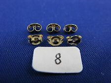 14K Gold  Friction Pushback Push Back Earrings Backs  (3 Pairs)  item #8