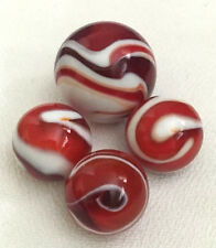 """Old Vintage Marbles - Vacor Roosters Shooter/player Set of 4 .60"""" up to 90"""" Mint"""