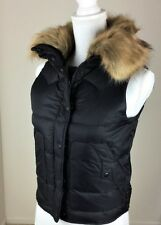 Denim & Supply Ralph Lauren Women Snorkel Faux-Fur Down Puffer Vest Black