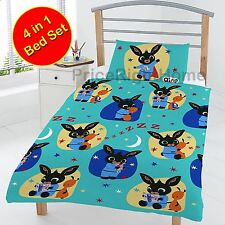 BING BUNNY JUNIOR DUVET COVER SET, PILLOW, QUILT - KIDS TODDLER BOYS REVERSIBLE