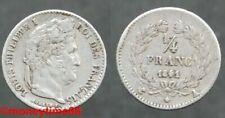 Pièces de monnaie françaises de 25 centimes 1 francs