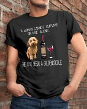 Goldendoodle Labradoodle and wine Funny dog Shirt Classic T-Shirt