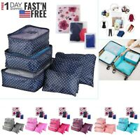 9Pcs Waterproof Travel Clothes Storage Bags Luggage Organizer Pouch Packing Cube