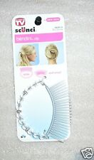 S43 SCUNCI LARGE 2 1/2 INCH BENDINI HAIR CLIP CLEAR  SLIDE AND SNAP #38282