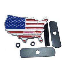 United States USA Land Flag Metal Hood Front Grille Grill Badge Emblem Fit Jeep