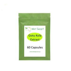 Gotu Kola Extract 60 x 500mg Capsules  FREE POSTAGE Oz Store Longevity Ayurvedic
