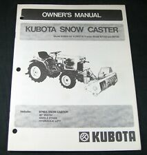 Kubota Snow Caster B748a For B7100 B6100 Tractor Owners Operators Manual Book