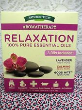 Nature's Truth 100% Pure Essential Oils Aromatherapy Relaxation 3 Pack Kit 15 ml