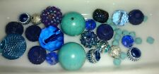 Jewelry making bead lot, AM I BLUE, jewelry, necklaces, glass bead assorted