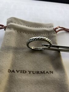 David Yurman Sterling Silver Cable Classics Ring Sz 9 in Mint EUC + DY Pouch