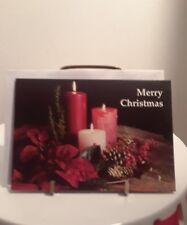 Christmas House 8 Christmas Cards & Envelopes candles