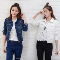 Fashion Girl Long Sleeve Women Girl Jean Jacket Denim Jacket Outwear Coat Female