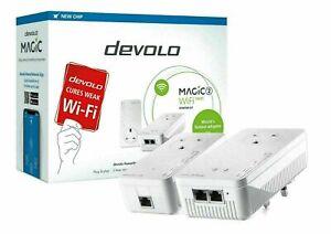 DEVOLO Magic 2 WiFi Next Powerline Starter Kit Twin Pack 4 Ethernet Ports.